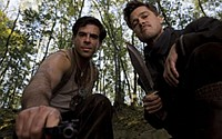 Eli Roth and Brad Pitt