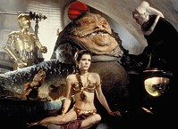 leia, jabba and friends
