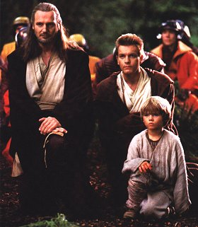 Jedi trio: Neeson, McGregor and Lloyd